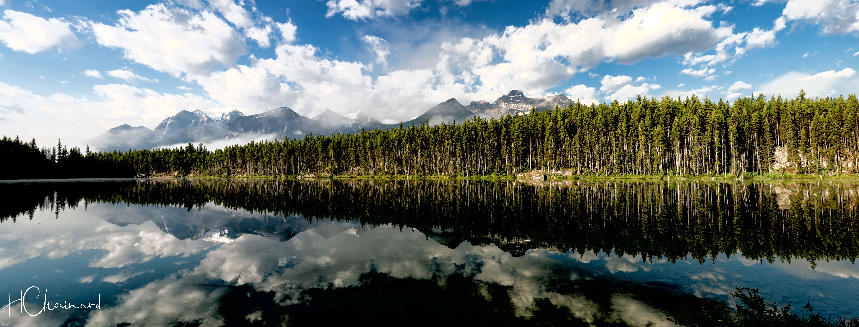 Lac Herbert dans les Rocheuses