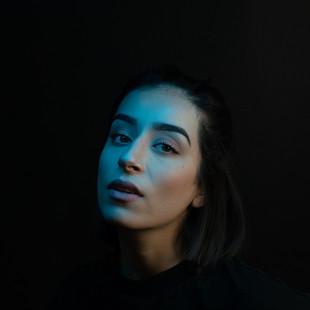 portrait studio femme