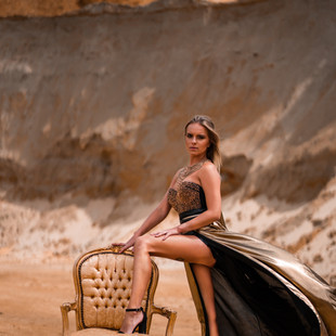 photo robe dorée