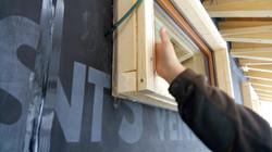 detalle colocación aislante-ventanas