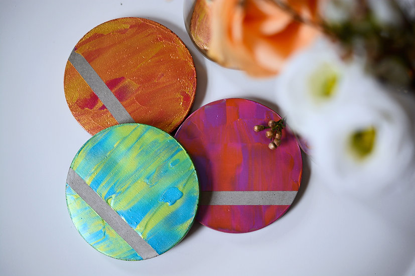 Colourful Round Coasters