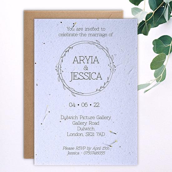 Wreath Invitation