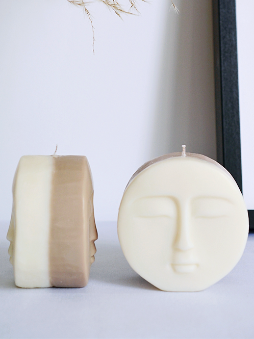 Duo Face Candle (Half Coloured)
