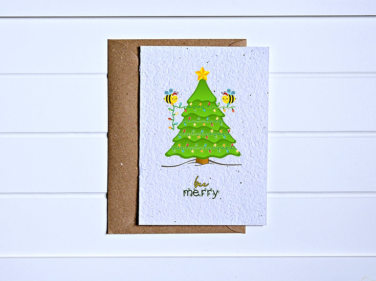 Bee merry Card