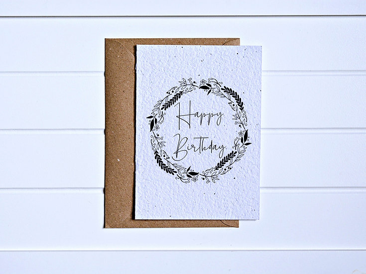 Wreath birthday Card