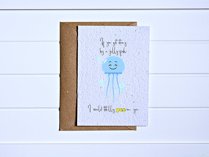 Stung by jellyfish Card