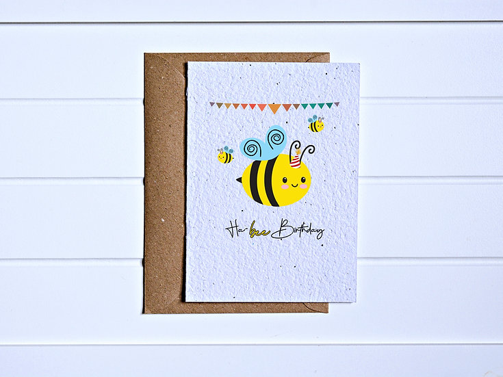 Ha-bee birthday Card