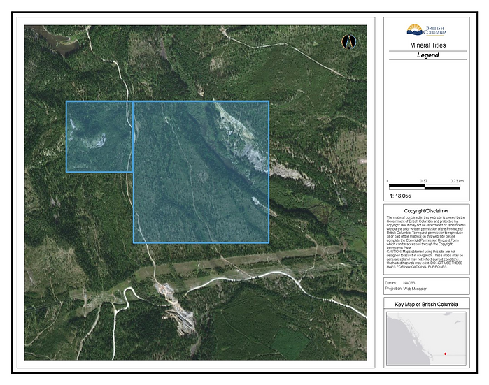 Palmer Bar Mine, Cranbrook, B.C. / 311.45 acres