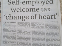 Self employed welcome tax 'change of heart'