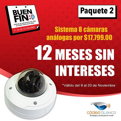 Sistema CCTV 8 cámaras Análoga