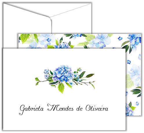 Cartão Social Bow Flower