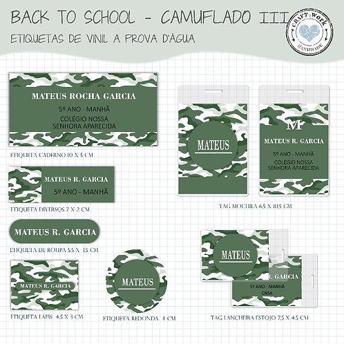 Back to School - CAMUFLADO GREEN