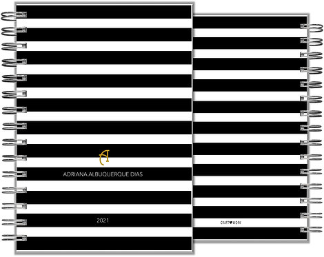Agenda Basic Black Stripes