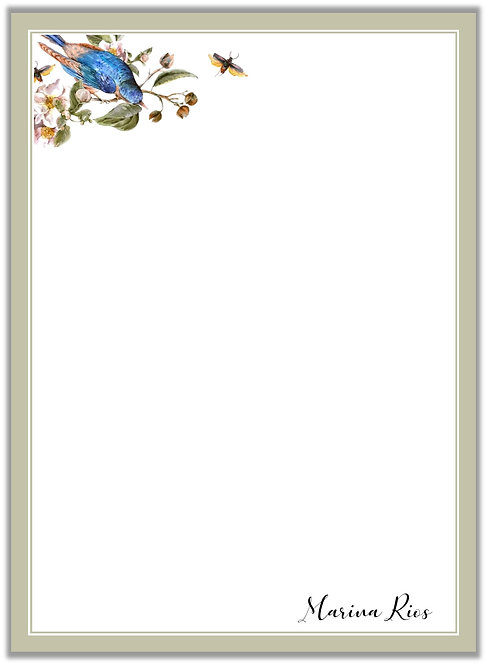 Papel de Carta Blue Bird