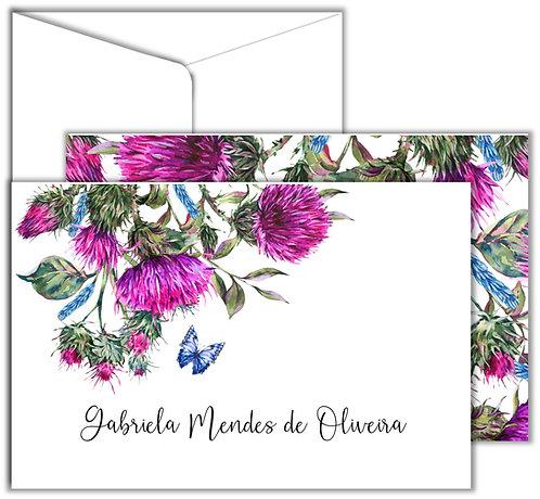 Cartão Social Pink Flower