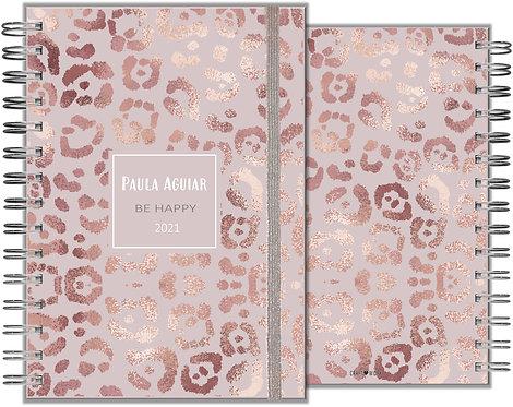 Agenda Rose Gold Leopard Skin