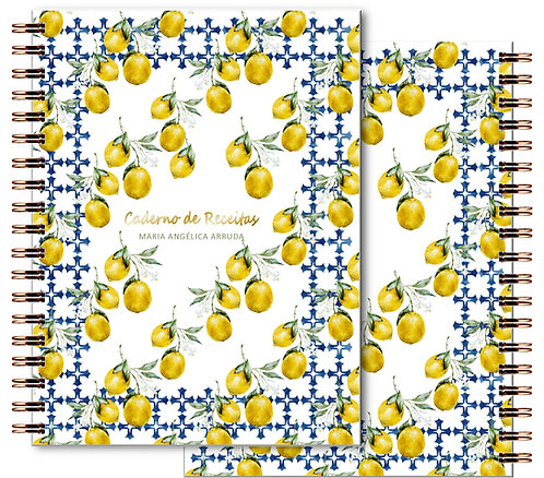 Caderno Receitas Watercolor Lemon