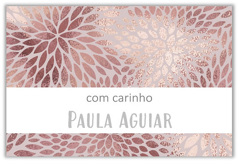 Etiqueta Adesiva Rose Gold Texture