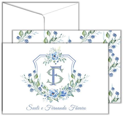 Cartão Social Shield Flowers