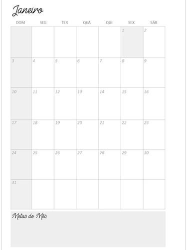 Visão Geral do mês