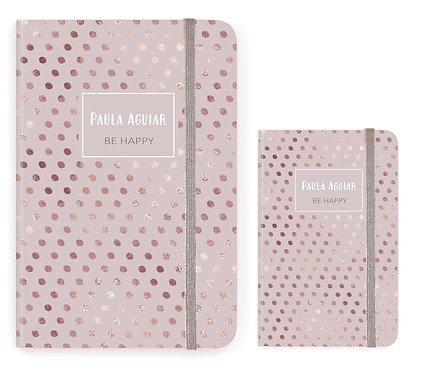 Caderno Rose Gold Dots