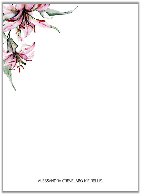 Papel de Carta Flower