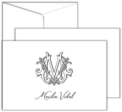 Cartão Social Monograma 2 Letters