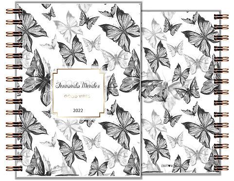 Agenda Black Butterfly
