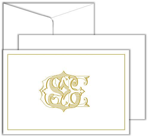 Cartão Social Monograma 3 Letters