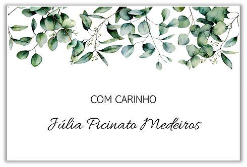 Etiqueta Adesiva Leaves