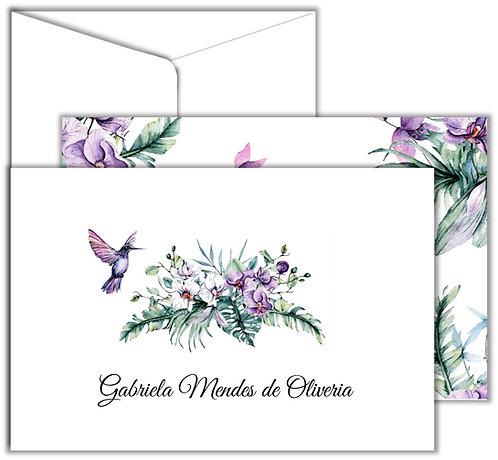Cartão Social Orchid