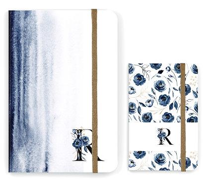 Caderno Blue Watercolor