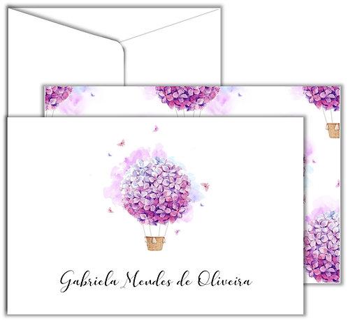 Cartão de Mensagem Flower Balloon