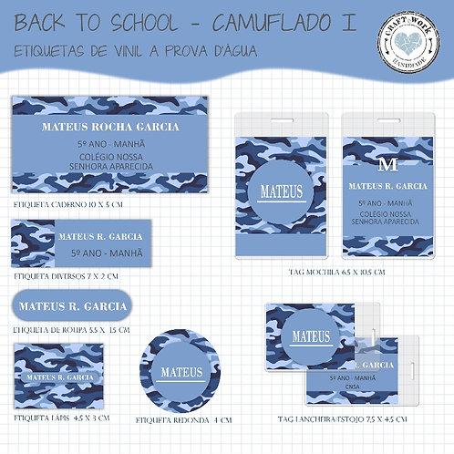 Back to School - CAMUFLADO BLUE