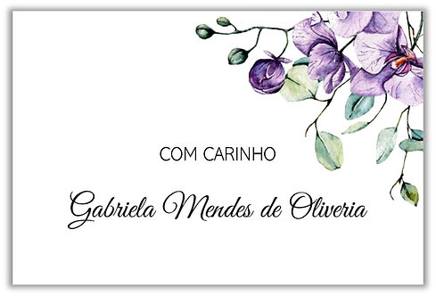 Etiqueta para presente Orchid