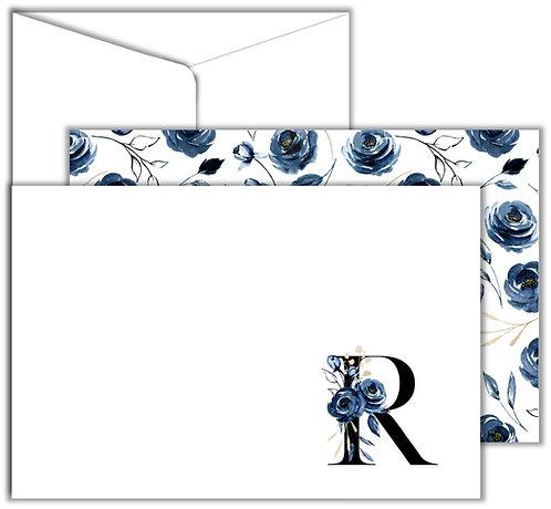 Cartão Social Flower Letters