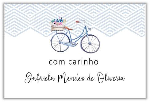 Etiquetas para presentes Bike Coleção Hobbys