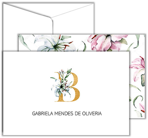 Cartão de mensagem Golden Letter