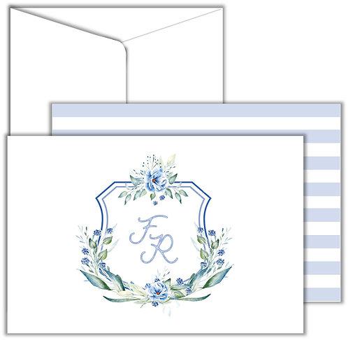 Cartão Social Shield Flowers Stripes