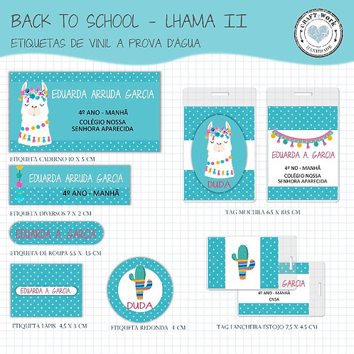 Back to School - LHAMA VERDE ÁGUA