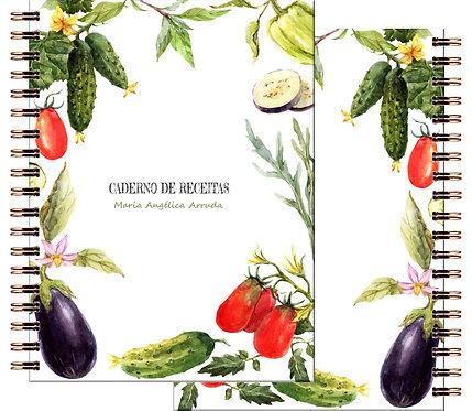 Caderno Receitas Vegetables