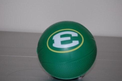 "Mini Rubber 4"" Green Basketball"