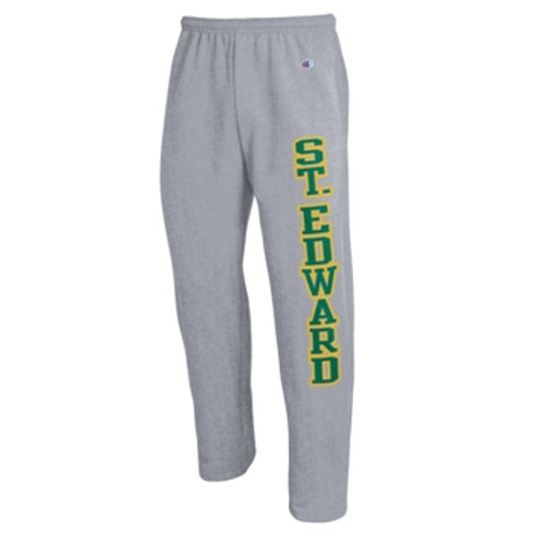 Sweatpants Fleece Open Leg Gray