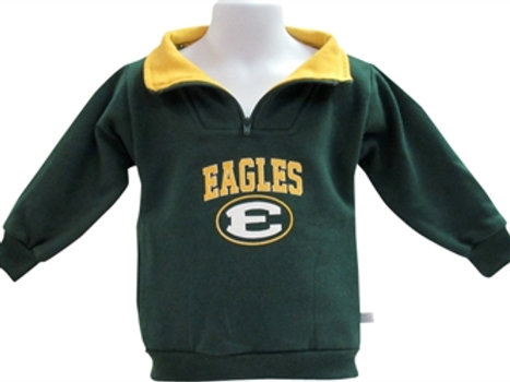 1/4 Zip Pullover Infant/Toddler Green/Gold