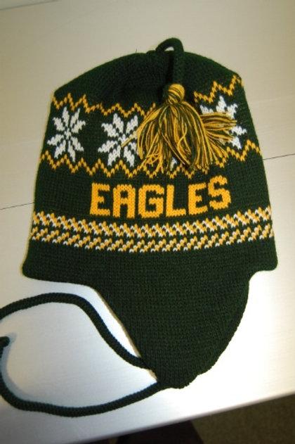 Knit Earflap Hat with Tassel