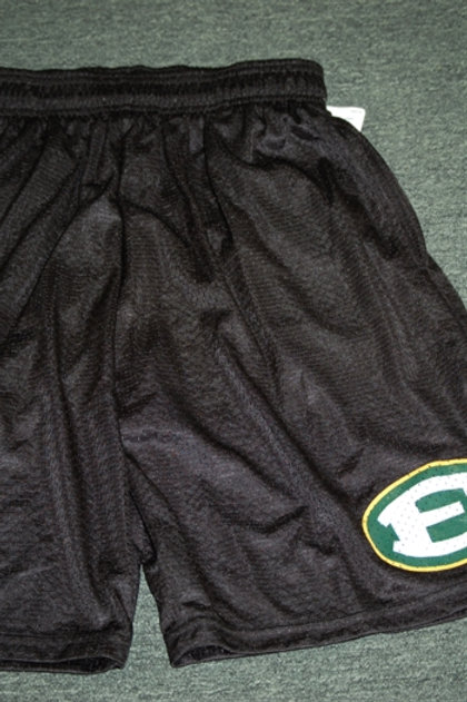 Shorts Black Mesh with Pockets 9 Inch Inseam