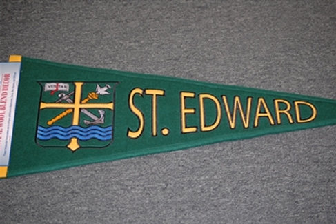 Wool Pennant St. Edward Traditions with Crest