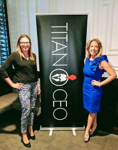 Jessica Fialkovich- Transworld Business Advisors, Jaime Zawmon- Titan CEO