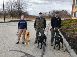Some of the K9 Teams who are ready to work!