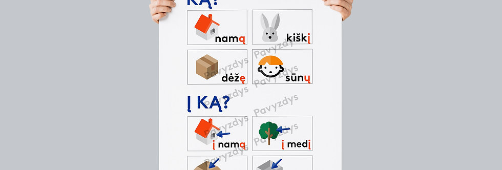 Plakatas   Daiktavardis KĄ, Į KĄ?